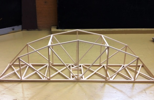 Design Bridge Paper Truss Lydias Portfolio